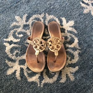 "Tory Burch ""Miller"" Sandal in Gold"